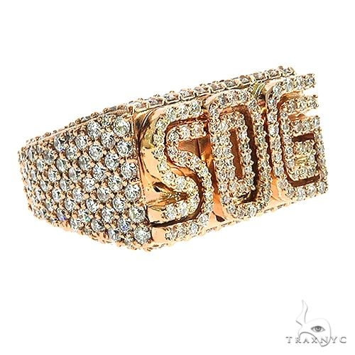 Custom Made 'SOG' Diamond Pinky Ring 67071 Stone