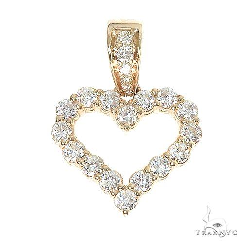 14K Gold Diamond Heart Pendant 67072 Style