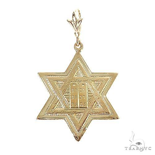 14K Gold David Star Pendant 67081 Metal