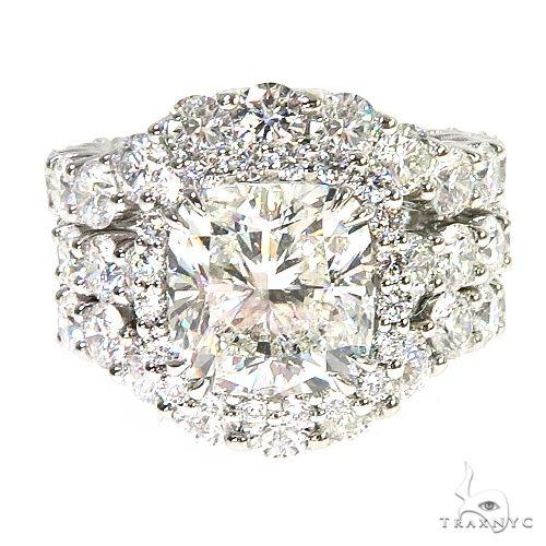 Custom Made Platinum Engagement Set Diamond Ring 67088 Engagement