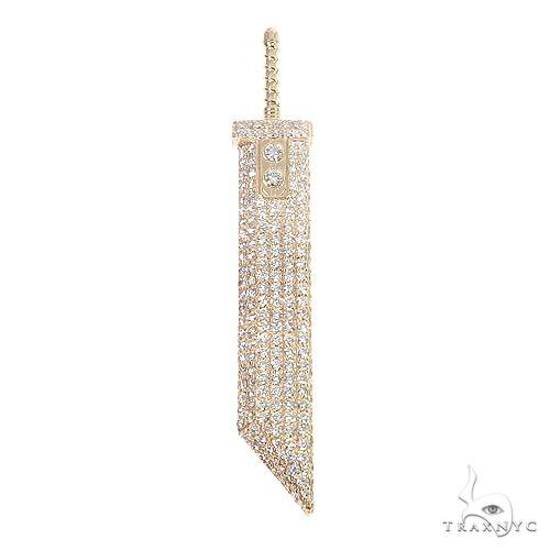 Custom Made Fantasy Cloud Sword Diamond Pendant 67091 Metal