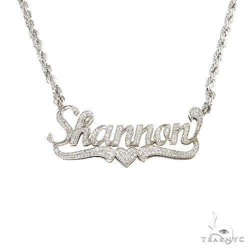 Custom Made Name Diamond Necklace 67092 Diamond