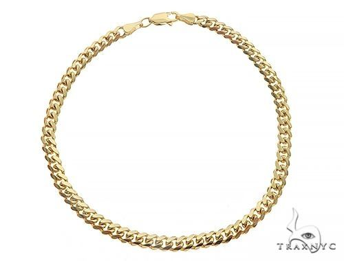 Solid Miami Cuban Link Bracelet 10K Yellow Gold 8 Inches 3.5mm 6.7 Grams 67108 Gold