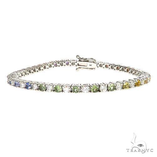 Rainbow Diamond Sapphire Tennis Bracelet 67109 Multicolor SAPPHIRE