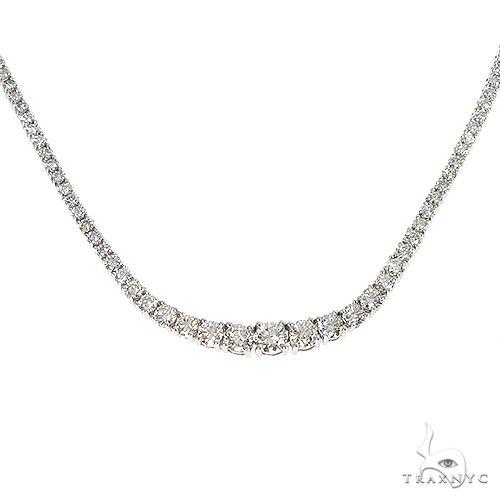 Graduated Diamond Tennis Necklace 67115 Diamond