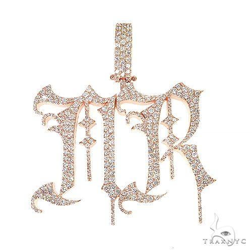 Custom Made Monogram Diamond Pendant 67117 Metal