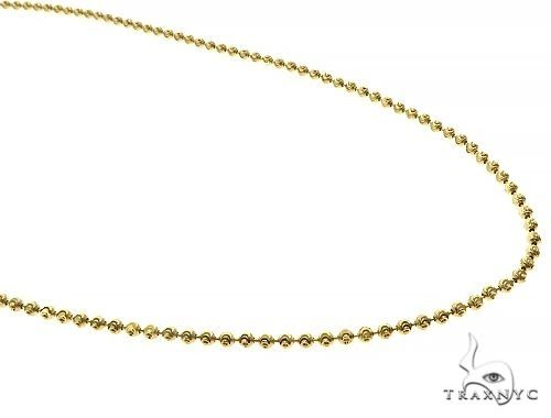 Moon Cut 10K Yellow Gold chain 18 Inches 2mm 4.4 Grams 67118 Gold