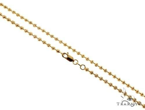 Moon Cut 10K Yellow Gold Chain 26 Inches 3mm 12.6 Grams 67126 Gold
