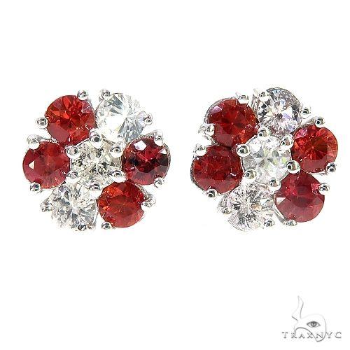 Austria Sapphire Flower Earrings 67137 Multicolor SAPPHIRE