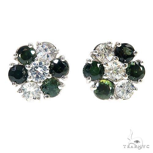 Nigeria Sapphire Flower Earrings 67138 Multicolor SAPPHIRE