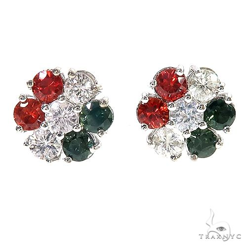 Italy  Hungary  Sapphire Flower Earrings 67140 Multicolor SAPPHIRE