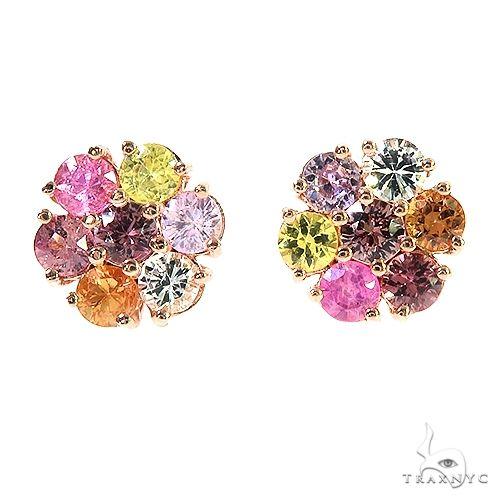 Jesse Cakes Sapphire Flower Earrings 67150 Multicolor SAPPHIRE