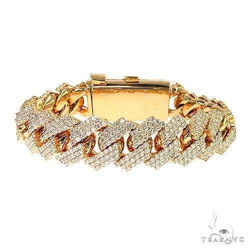 3 Row Prong Set Diamond Cuban Bracelet By Dan 67151 Diamond