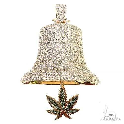 Weed Leaf Bell Pendant 67163 Metal