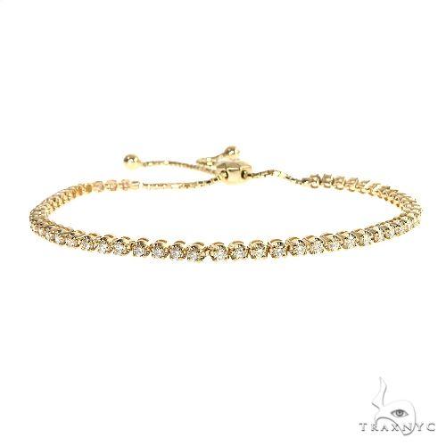 14K Yellow Gold Adjustable Diamond Bolo Bracelet 67168 Diamond