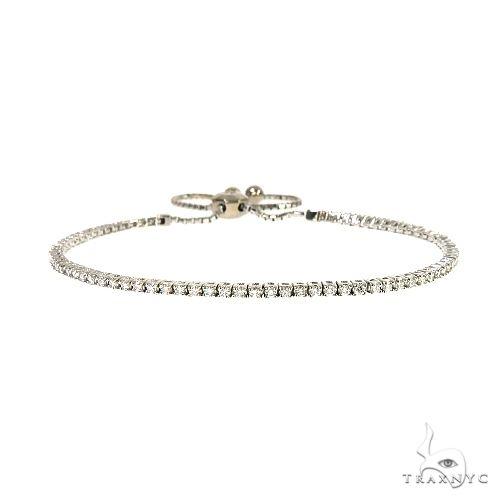 14K Yellow Gold Adjustable Diamond Bolo Bracelet 67176 Diamond