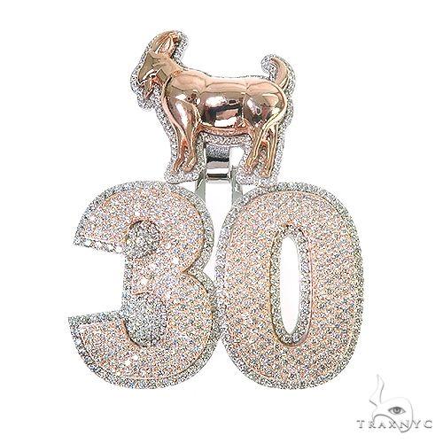 Custom Made Diamond '30' Pendant 67179 Metal