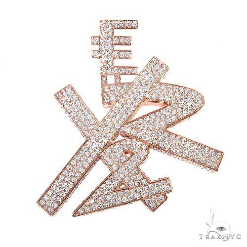 Custom Made Diamond 'EY&2' Pendant 67182 Metal