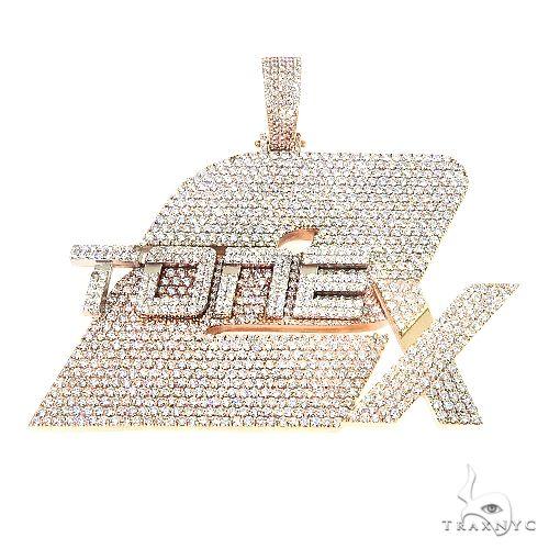 Custom Made Diamond Pendant 67185 Metal