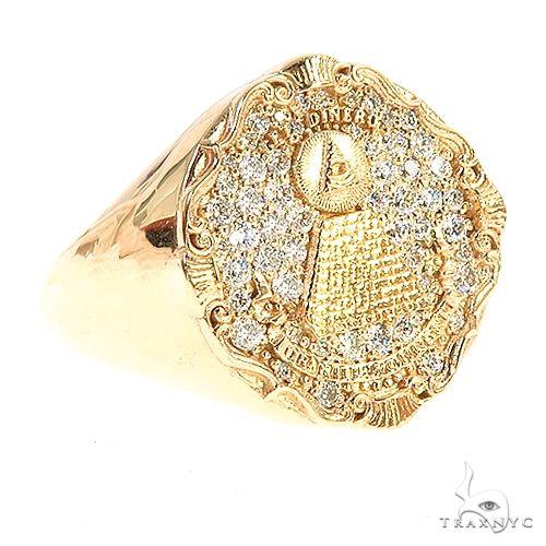 Custom Made 'Eye of Providence' Diamond Ring 67186 Stone