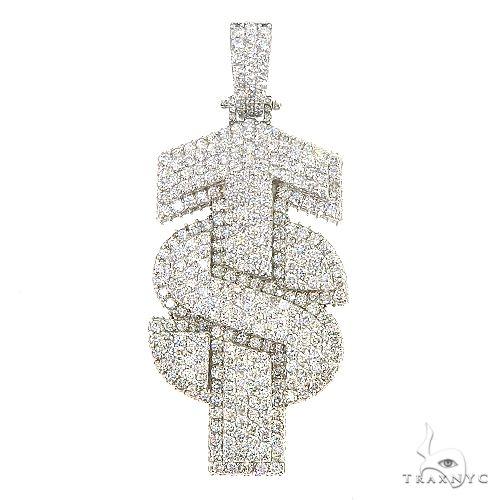 Custom Nade 'TS' Diamond Logo Pendant 67189 Metal