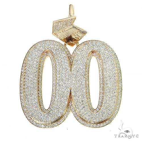 Custom Made Diamond '00' Pendant 67193 Metal