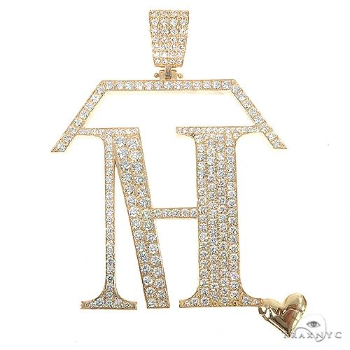 Custom Made Home Health Care Logo Diamond Pendant 67195 Metal