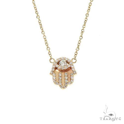 14K Gold Hamsa Diamond Necklace 67203 Diamond