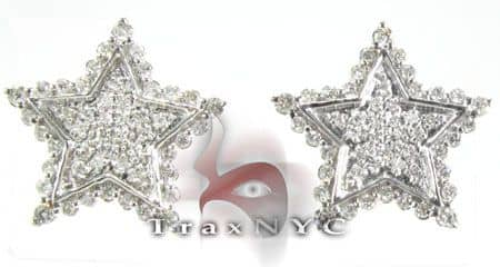Illusion Star Earrings Stone