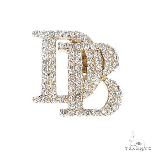 Custom Made 'DB' Diamond Pendant 67205 Metal