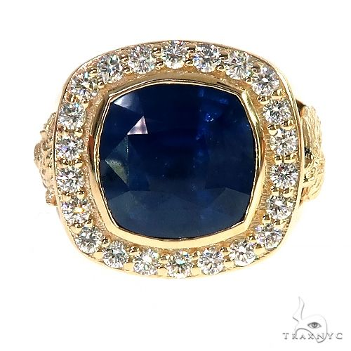 Blue Sapphire Diamond Ring 67207 Multicolor SAPPHIRE
