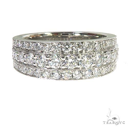 Platinum 3 Row Diamond Ring 67208 Anniversary/Fashion