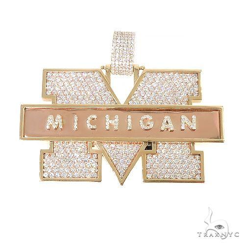 Custom Made 'Michigan' Diamond Pendant 67212 Metal