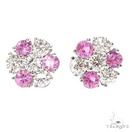Large Majesty Sapphire Flower Earrings 67215 Multicolor SAPPHIRE