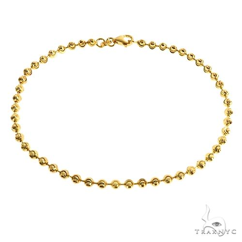 Moon Cut 10K Yellow Gold Bracelet 8 Inches 3mm 3.8 grams 67128 Gold