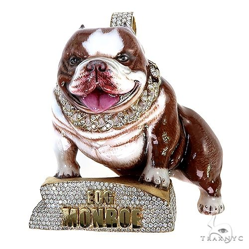 Monroe Bully Dog Pendant 67237 Metal