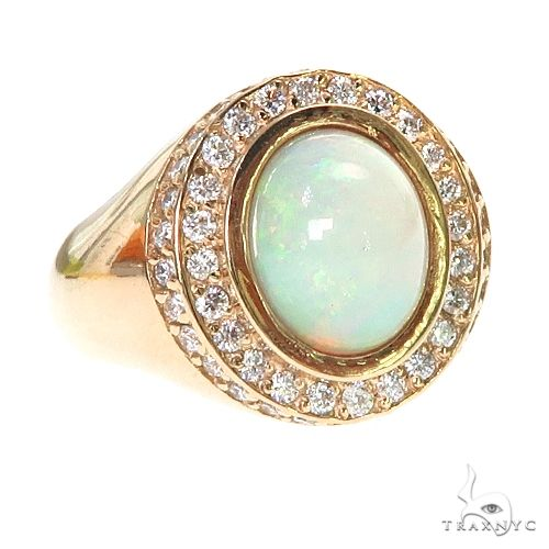 UnCut Gems TraxNYC Opal Diamond Ring 67246 Metal
