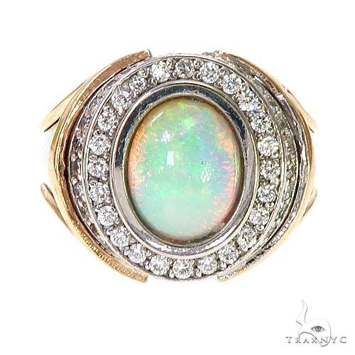 UnCut Gems TraxNYC Opal Diamond 2-Tone Gold Ring 67247 Metal