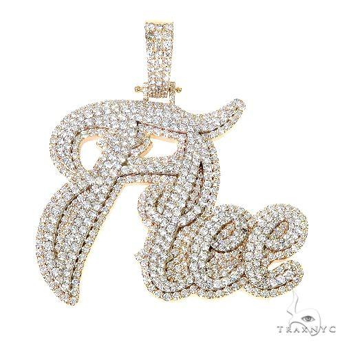 Custom Made Name Diamond Pendant 67249 Metal