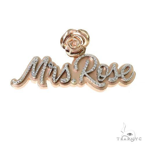 Custom Made 'MRS Rose' Pendant 67251 Metal
