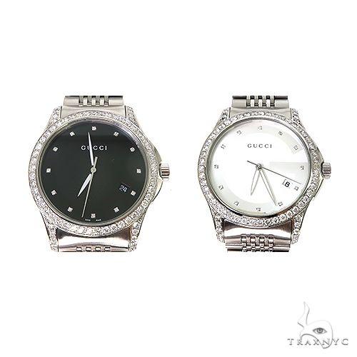 Pave Diamond G Timeless Collection Medium Version Gucci Watch 67255 Gucci