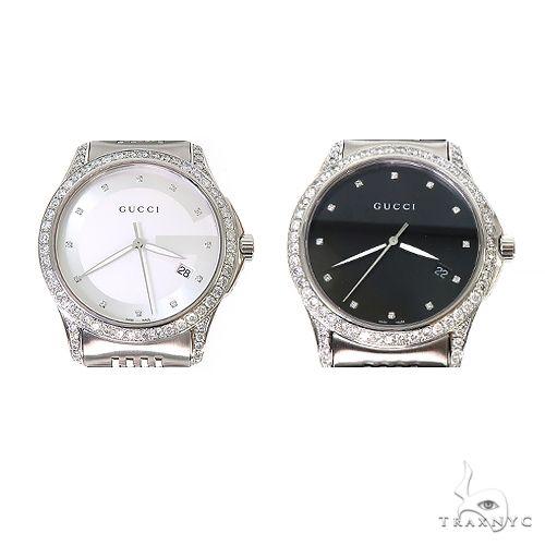 Pave Diamond G Timeless Collection Medium Version Gucci Watch 67256 Gucci