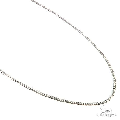 Thin Solid Miami Cuban Link Chain 10K White Gold 24 Inches 1.9mm 7.3 Grams 67279 Gold