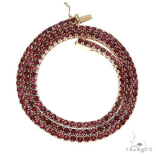 Blood Red Sapphire Tennis Chain 67289 Men Specials