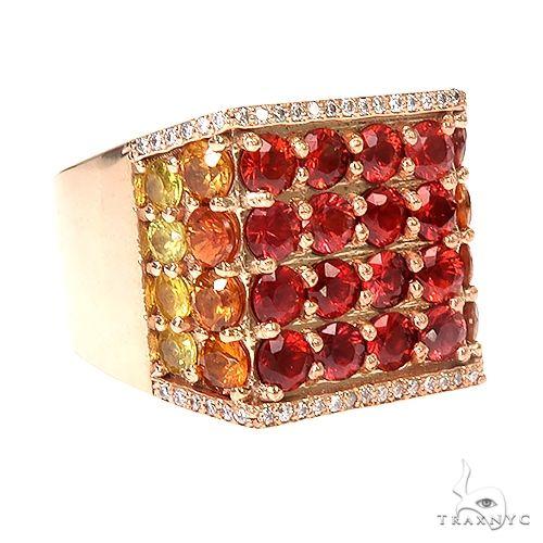 Sapphire Diamond Fire Ring 67291 Multicolor SAPPHIRE