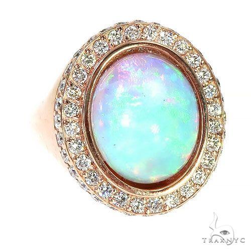 Custom 14K Gold Opal Diamond Ring 67292 Metal