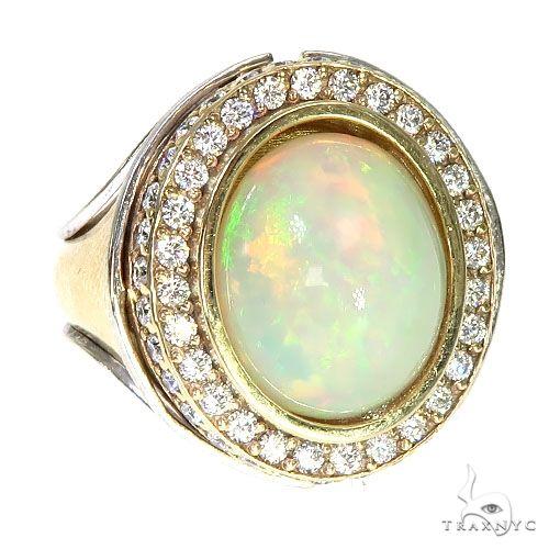 Custom 14K Gold Opal Diamond Ring 67293 Metal