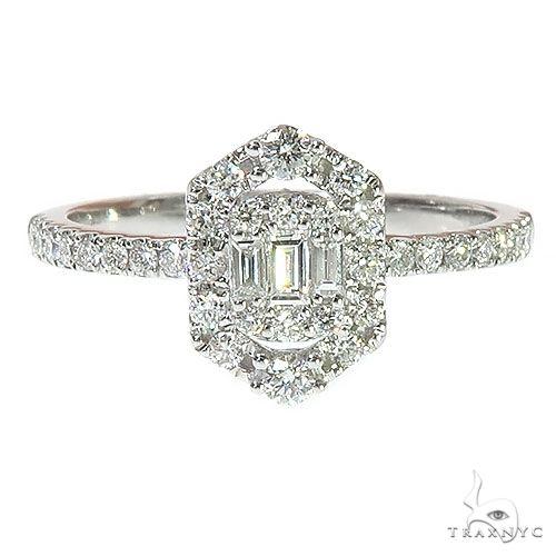 18K Gold Baguette Diamond Engagement Ring 67294 Style