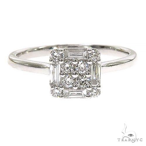 18K Gold Baguette Diamond Engagement Ring 67296 Style