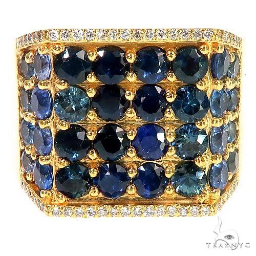 Water Sapphire Diamond Ring 67335 Multicolor SAPPHIRE